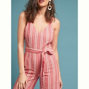 Anthropologie Robin Wide-Leg Cropped Jumpsuit